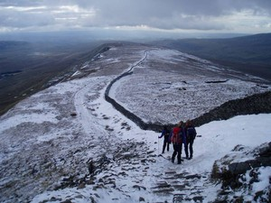 Descending from Whernside