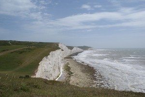 Looking along the Seven Sisters