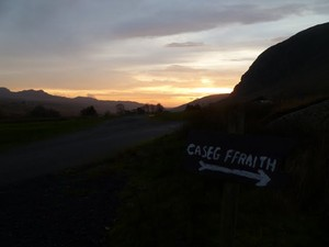Sunrise from Caseg Fraith