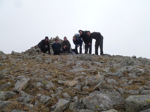 The summit of Drosgl, Carneddau
