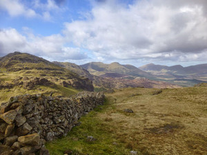 Nantlle ridge from below Moel Hebog
