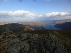The view from Sheffield Pike along Ullswater