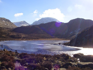 Ice on Innominate Tarn.