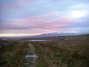 Sunset over Ingleborough