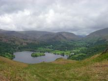 Elterwater from somewhere on one of Loughrigg's many knobbles.